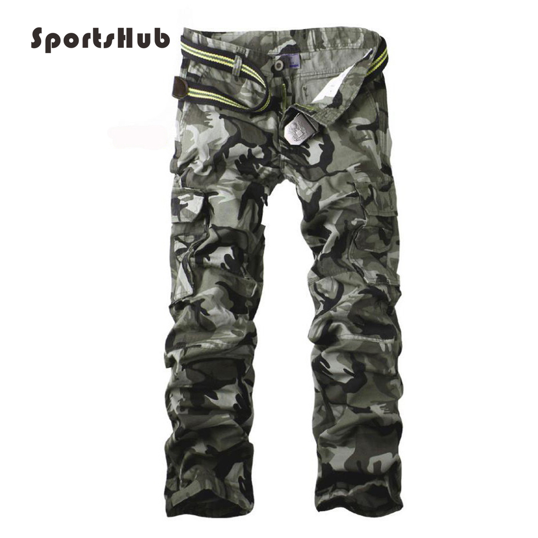 SPORTSHUB Cotton Men's Military Army Pants Outdoor Sport Camping Camouflage Pants Joggers Pants Sweatpants Cargo Pants SAA0004