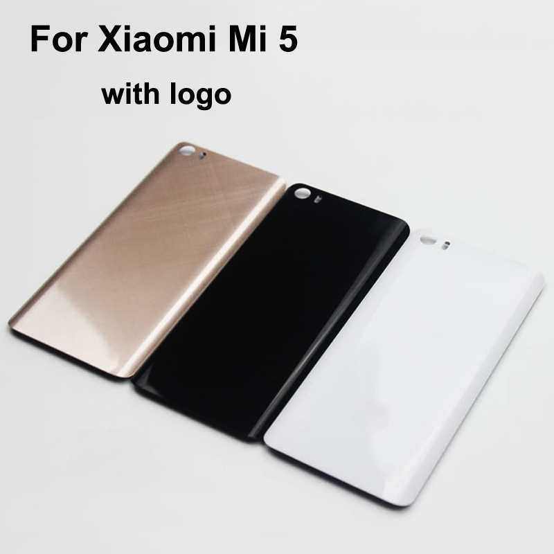 Original new 3D glass 5.15 Inch with logo Back Cover For Xiaomi Mi5 Housing Battery Door For Xiaomi Mi 5 Battery Back Cover