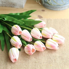 1 Pc Real Touch Artificial Tulip Flowers Fake Flower Bridal for Wedding Party PU