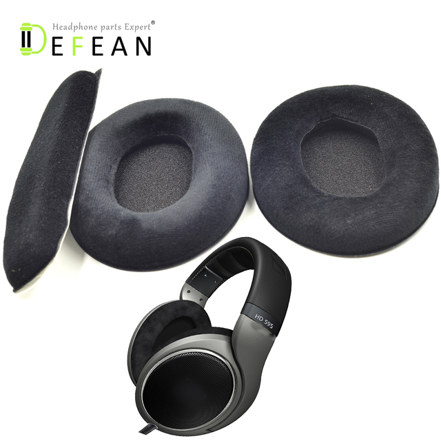 28c265fb240 Defean Replacement Ear Pads Cushion & headband cover For sennheiser HD515 HD555  HD595 HD518 HD558 Headphones