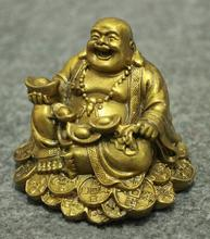 Chinese Buddhism copper wealth happy laughing Buddha