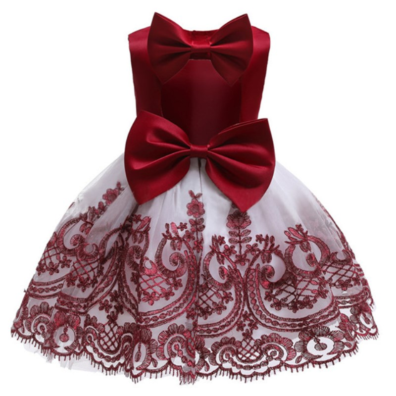 Flower     Girls     Dresses   for Birthday Party Clothes Lace Pageant Baby   Girls   Sleeveless Princess Wedding Children Prom Gowns