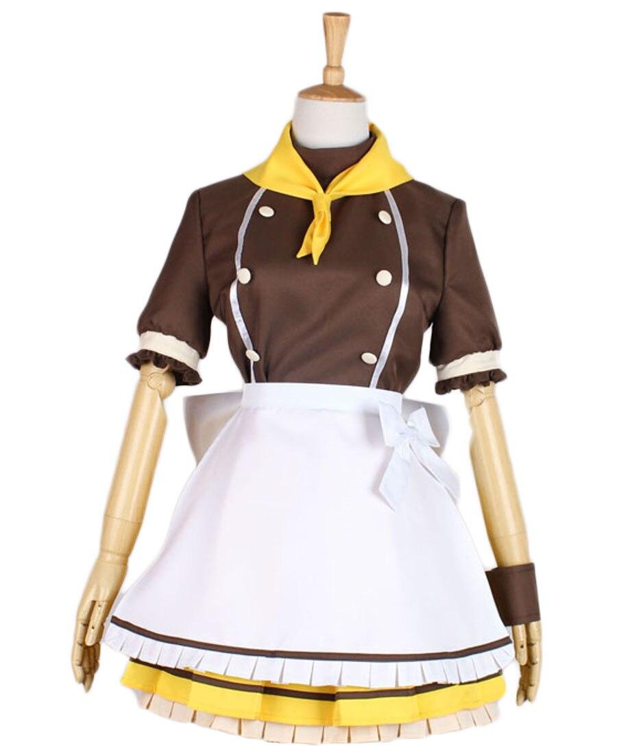 Love Live Koizumi Hanayo Maid Dress Cosplay Costume Custom Made