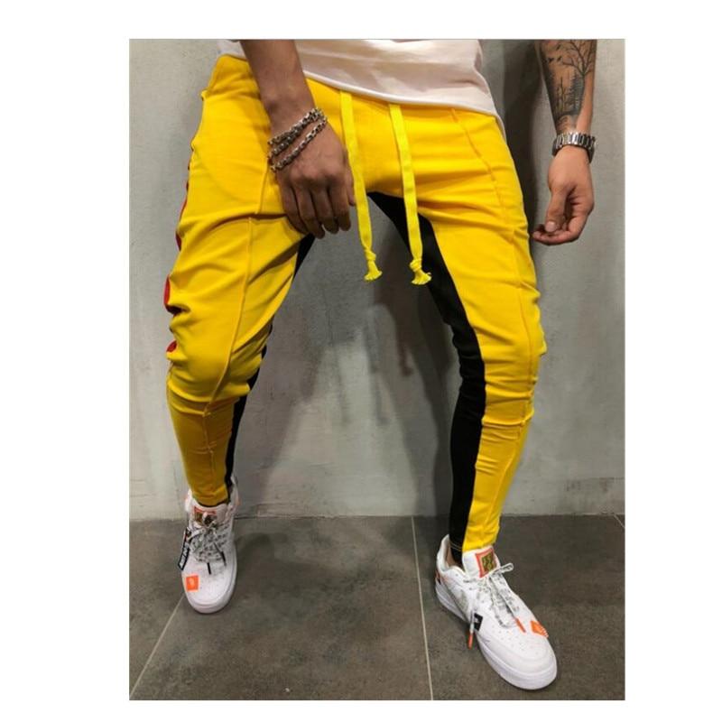 Men Jogging Men Pencil Pants Casual Joggers Sweatpants Men Cotton Patchwork Pants Autumn Trousers Hip Hop Pantolon Plus Size