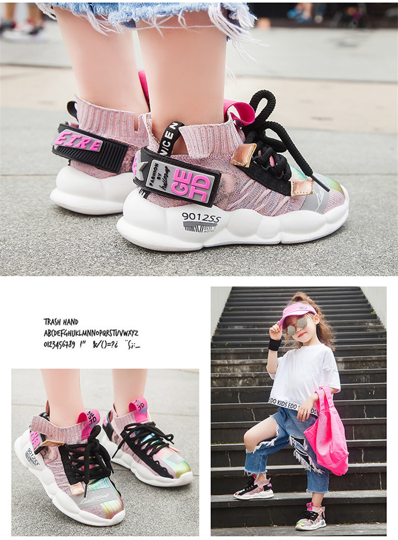 2019 Autumn Kids sneakers Girls shoes Boys Fashion Casual Children Shoes for Girl Sport Running Child Shoes Chaussure Enfant (13)