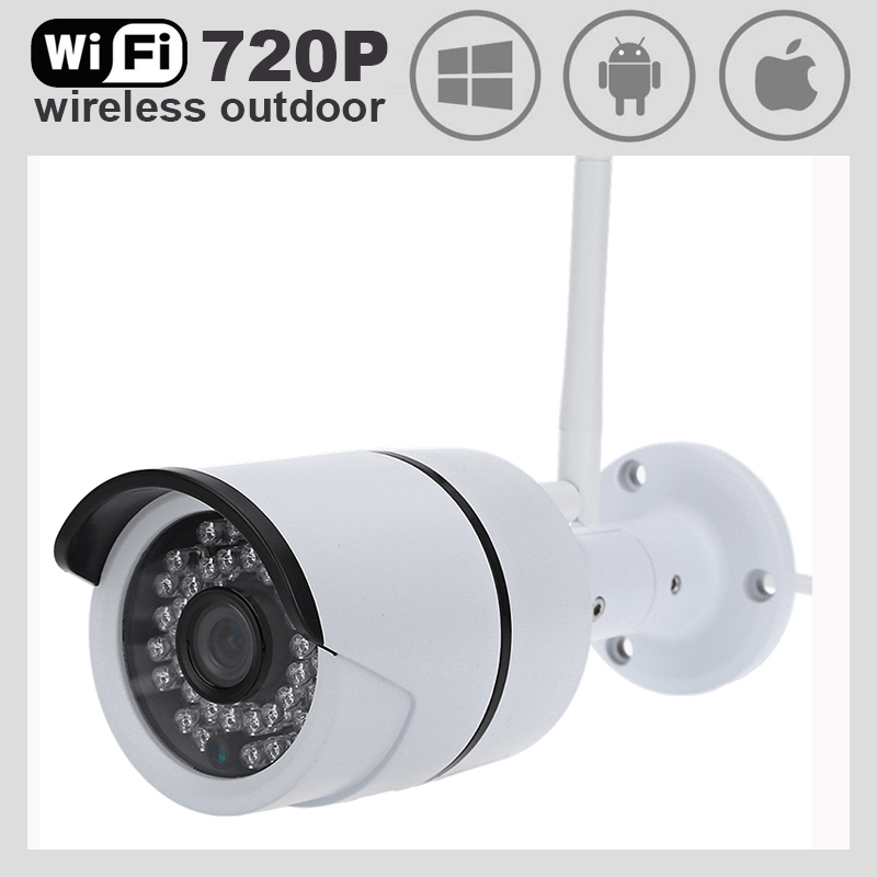 ФОТО WiFi IP Camera 720P Network wireless 1.0mp camera day night vision outdoor waterproof CAM 1/4inch 3.6mm lens Really Top Quality