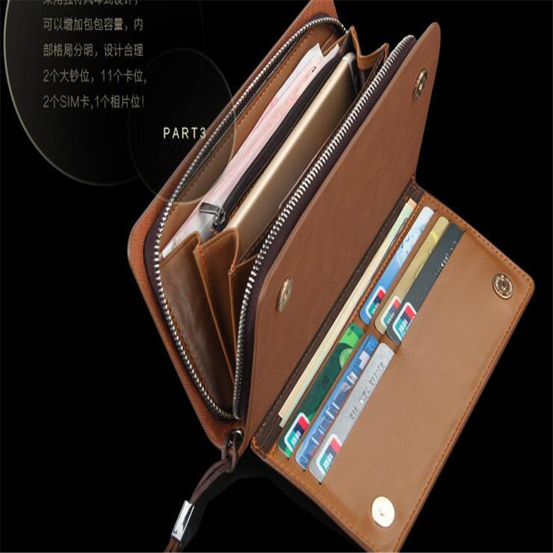 Brand Fashion Men Wallets with Phone Bag Vintage PU Leather Clutch Wallet  Male Purses Large Capacity Men s Wallets-in Wallets from Luggage   Bags on  ... 8d7af0299291b