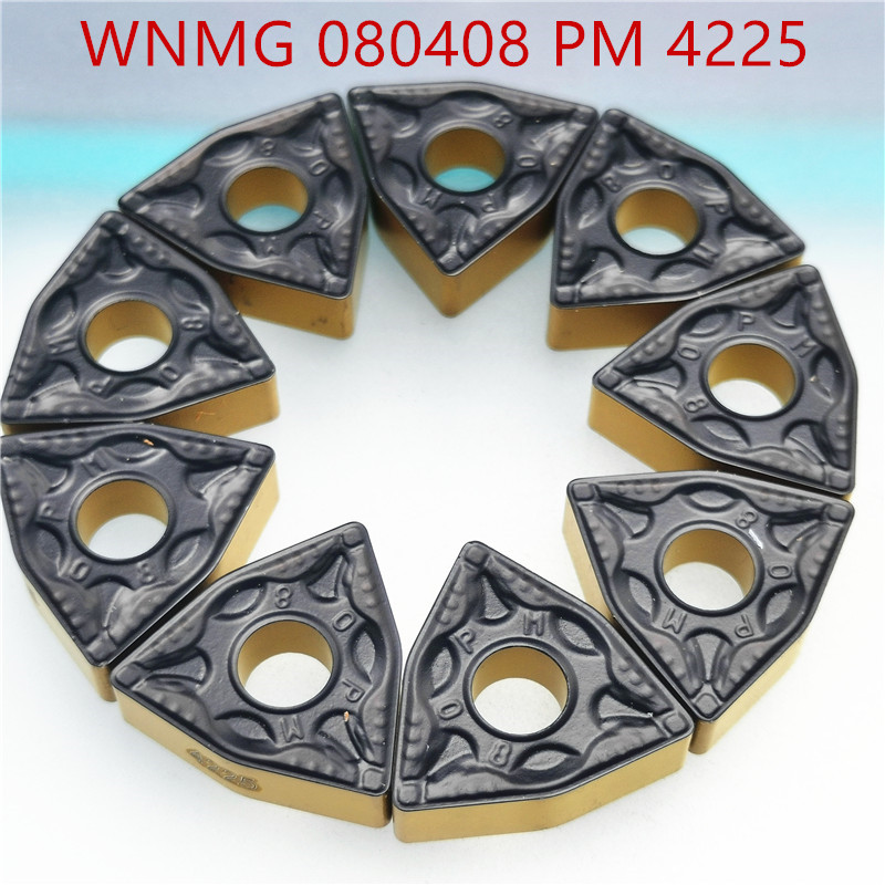 10PCS WNMG080408 PM4225  Lathe Tool High Quality Carbide Tool Metal Turning Tool Milling Cutter CNC Product WNMG 080408 PM 4225