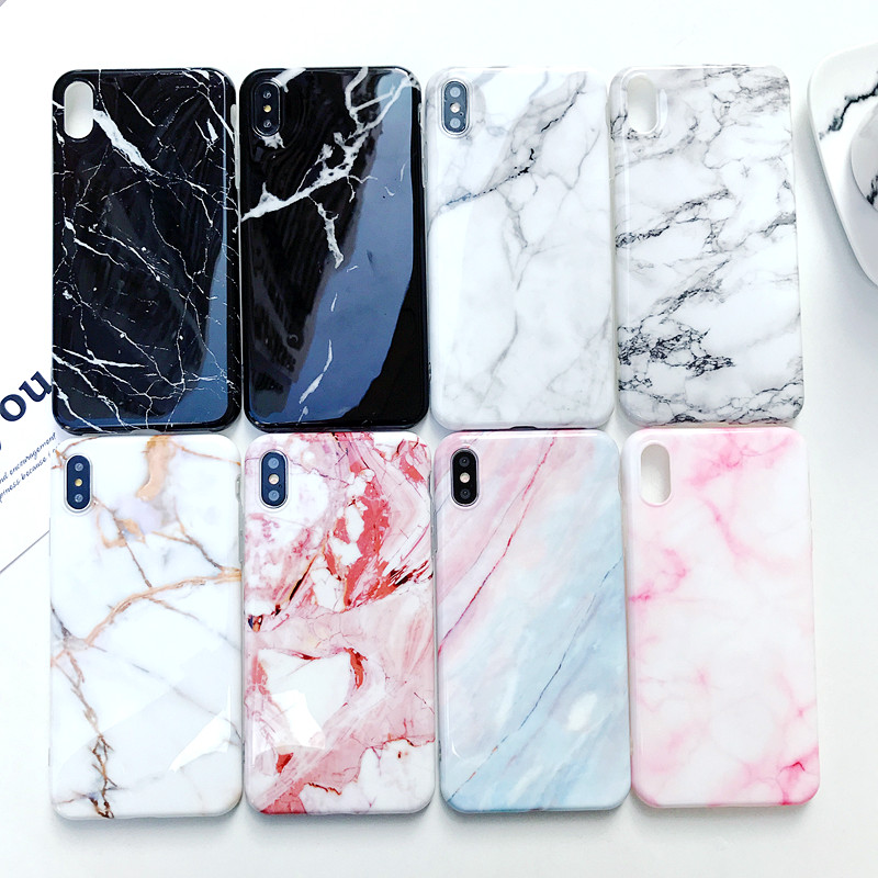 new luxury glossy marble veins phone case for iphone x xs xr 6 6s 7