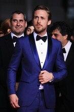 2016 Forma männer anzüge hochzeit Anzüge slim fit fashion blau männer anzüge mit hosen männer bräutigam smoking jacke + hose + tie