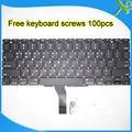 """A Estrenar Para Macbook Air 11.6 """"A1370 A1465 teclado Coreano + 100 unids tornillos del teclado 2010-2015 Años"""