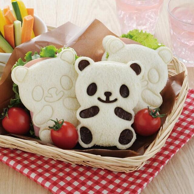 DIY bonita forma de Panda arroz de sushi galleta cortadora de molde sandwichera herramienta de hornear