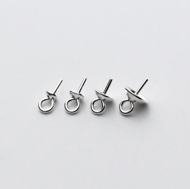 10pcs 925 sterling silver pearl cup cap bail pin pendant connector 10pcs 925 sterling silver pearl cup cap bail pin pendant connector diy a2375 mozeypictures Images