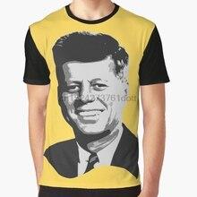 e003eaf7d4e7 All Over Print 3D Women T Shirt Men Funny tshirt John F Kennedy Grayscale  Pop Art