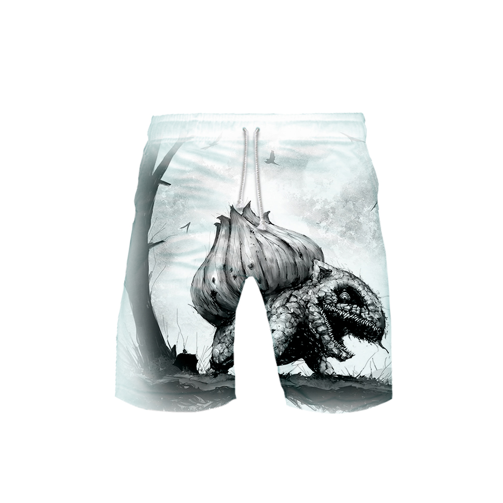 3D terror pokemon Printed male summer   shorts   2019 New Casual summer beach   shorts   male Hot sales cute   board     shorts   plus size 4XL