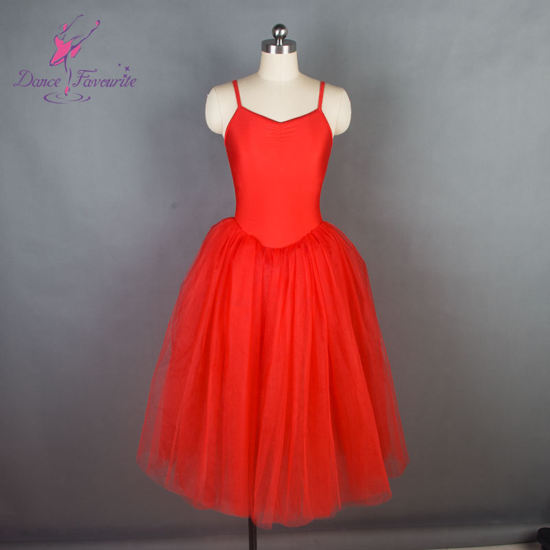 15089 <font><b>Dance</b></font> Favourite New Ballet Tutu Red Bodice with Camisole Ballet Costume Women Romantic Ballet Tutu Adult Blalet Tutu image