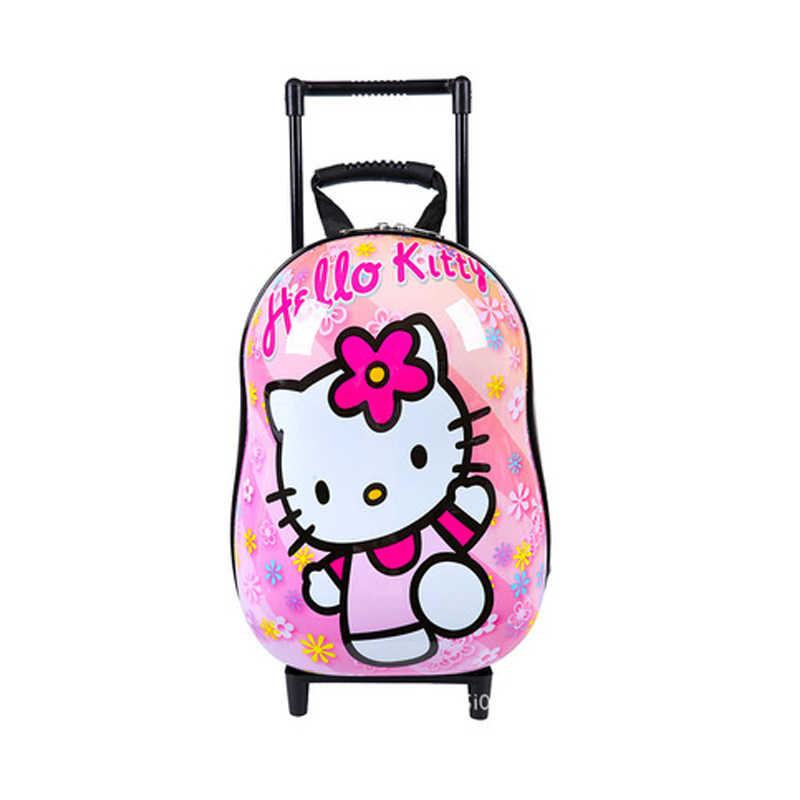 Новый мультяшный детский спинер abs тележка для багажа на колесах чехол Детские сумки чемодан для мальчиков и девочек рюкзак на колесиках
