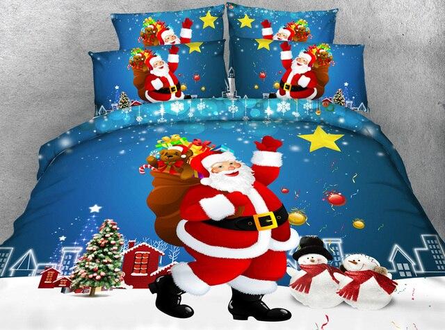 Jf 201 feliz Navidad! Color azul y rojo encantador Santa Claus ...