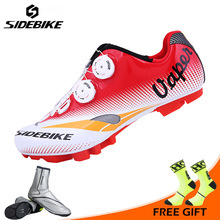 SIDEBIKE Professional MTB Bike Shoes Men Outdoor Mountain Bicycle Shoes Anto lock Cycling Shoes Breathable Non