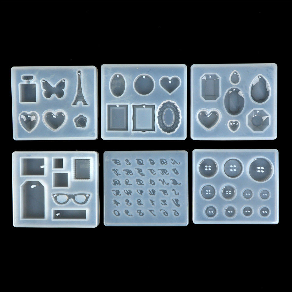 Pyramid Silicone Mold Resin Jewelry Making Mould Epoxy Pendant Craft DIY Tool  Jewelry Making  Wholesale Lots Bulk
