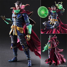 цены NEW PlayArts SHF 15-26cm Doctor Strange Avengers Infinity War Action figure Collectible Model Toys Doll Christmas gift with Box