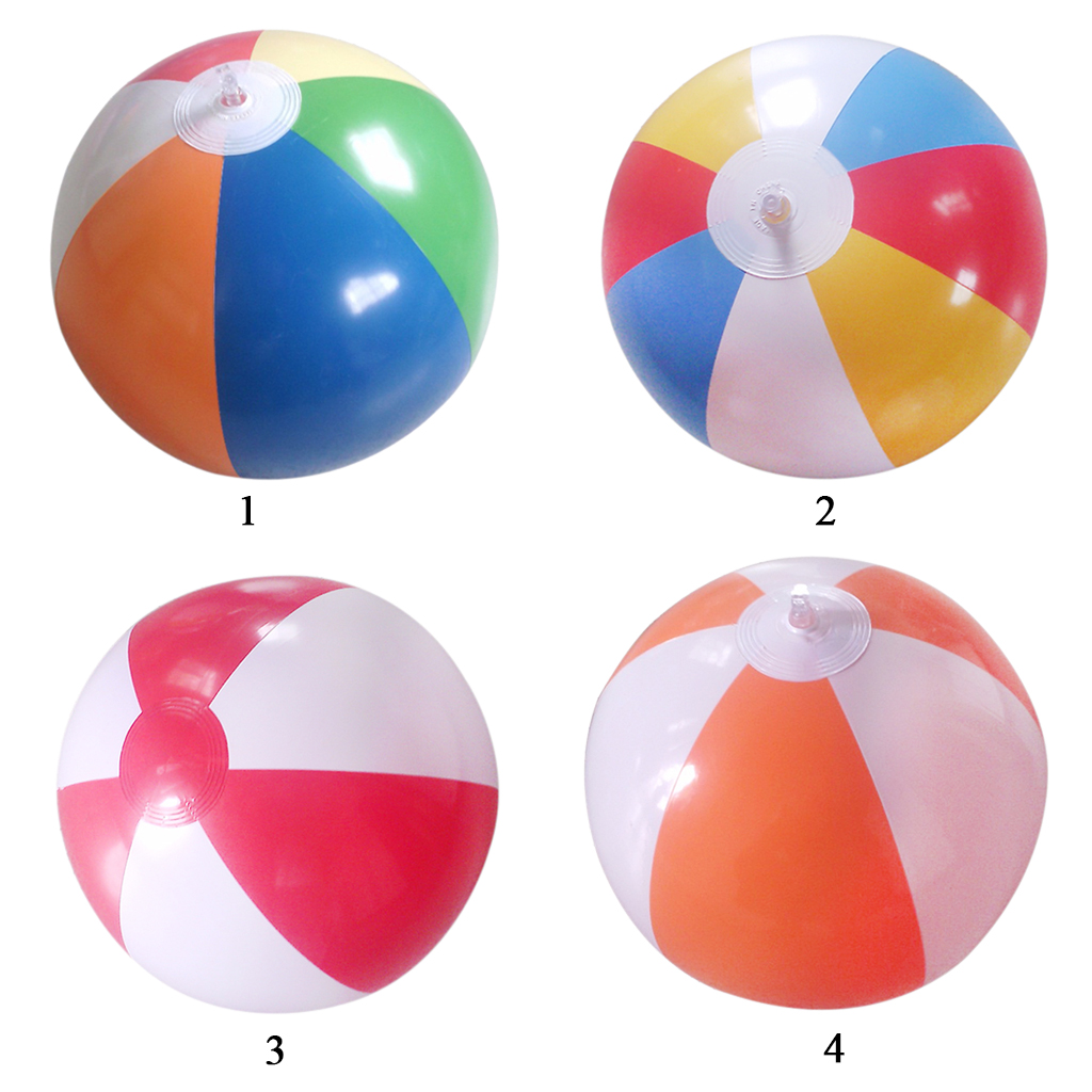 12' Multi-colored  Inflatable Swimming/Pool Party Beach Ball Balls Kids Fun Water Toys