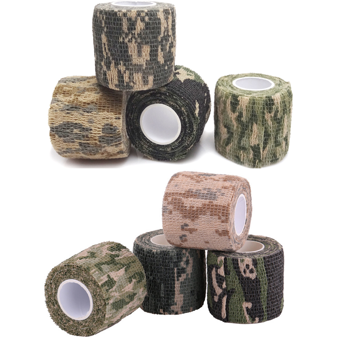 цена на High Quality 5cmx4.5m Army Camo Outdoor Hunting Shooting Tool Non-Slip Camouflage Stealth Tape Waterproof Wrap Durable Non-woven