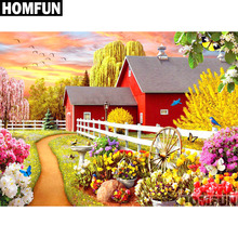HOMFUN Full Square/Round Drill 5D DIY Diamond Painting Garden Scenic Embroidery Cross Stitch 5D Home Decor Gift A01678 homfun full square round drill 5d diy diamond painting garden