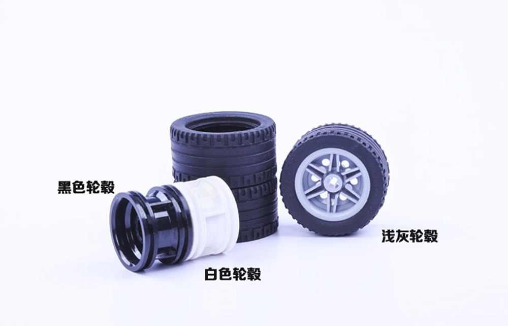 4set/lot Decool TECHNIC wheel 43.2*22mm  mechanical Compatible with legos 44309 56145 MOC DIY blocks bricks parts set