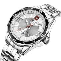 Men Quartz Watches NAVIFORCE Top Brand Military Sport Watch Men Full Stainless Steel Waterproof Calendar Clock