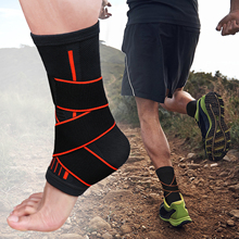 Pressurizable Adjustment Protection Foot Bandage Ankle Support Brace Protect Sprain Prevention Sport Fitness Ankle Guard Band 1pcs ankle support brace stirrup sprain stabilizer guard ankle sprain aluminum splint