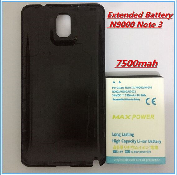 cheap for discount 1ec41 312c7 US $12.99 |New High capacity Note 3 7500mAh Extended Battery+Black Door  Cover Case For SAMSUNG Galaxy Note 3 Cell phone extended battery-in Mobile  ...