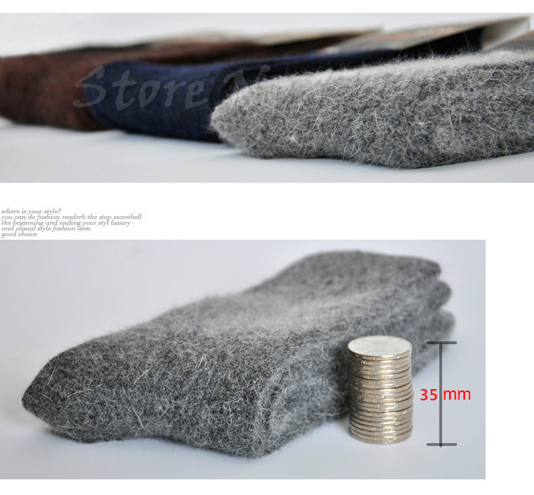 3x Men's Merino Wool Socks Warm Winter 24