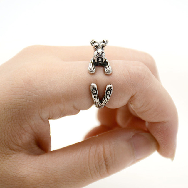 Silver Dog Adjustable Ring