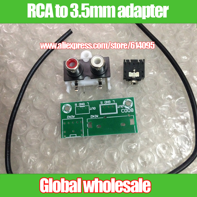 Audio input adapter board Kit / RCA adapter to 3.5mm interface ...