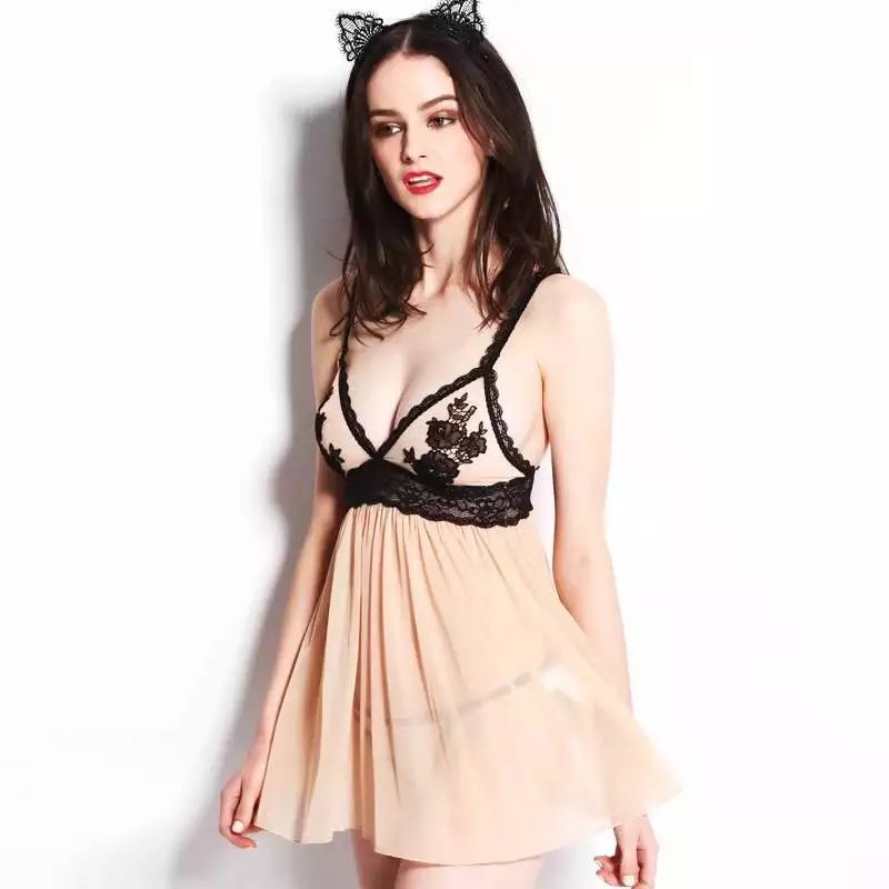 Erotic Lingerie Women Sexy Lingerie Lace Nightwear Dress Embroidery Lace Baby Dolls Lenceria Sexy Sleepwear Women Sex Products