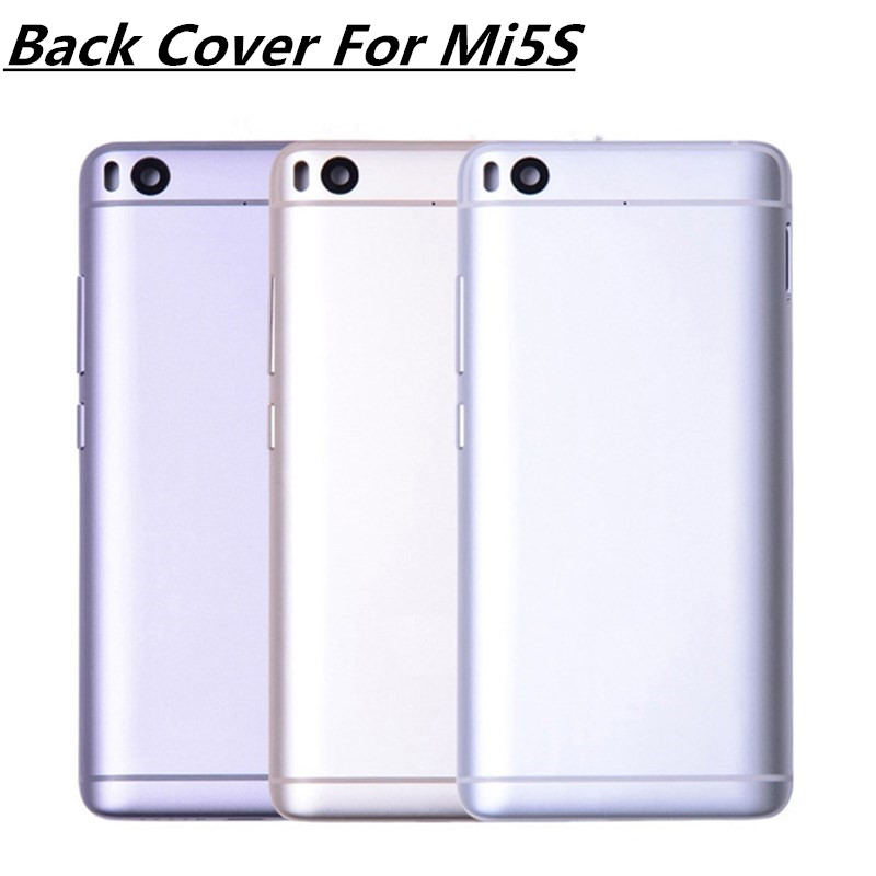 5.15'' New New Replacement For XIAOMI Mi5S Back Cover Mi 5S Battery Cover Door with Volume Power Buttons Black Silver Gold
