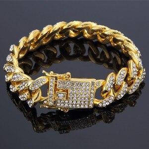 Men's Bracelet Gold Miami Curb