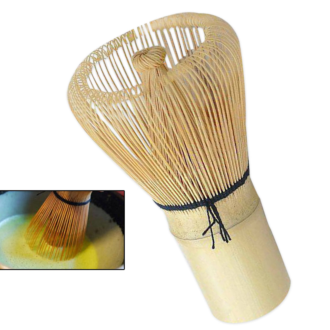 Japanese Bamboo Matcha Green Tea Powder Whisk Matcha Bamboo Whisk Bamboo Chasen Useful Brush Tools Kitchen Accessories
