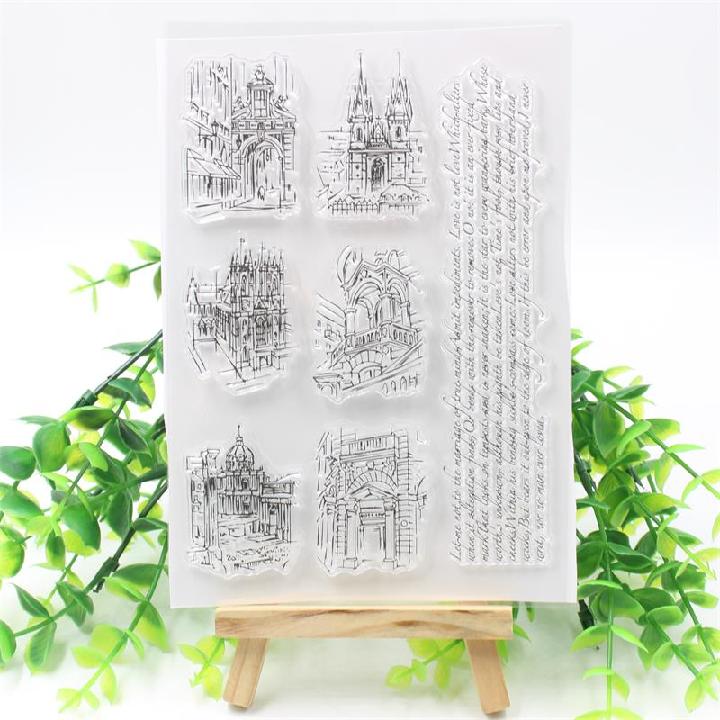 YPP CRAFT City Transparent Clear Silicone Stamp/Seal for DIY scrapbooking/photo album Decorative clear stamp about lovely baby design transparent clear silicone stamp seal for diy scrapbooking photo album clear stamp paper craft cl 052