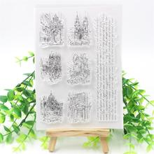 YPP CRAFT City Transparent Clear Silicone Stamp/Seal for DIY scrapbooking/photo album Decorative clear stamp