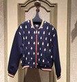Пятно 2016 новых осенью кошка вышивка шить свободные пальто воротник бейсбол женский M63TB1436