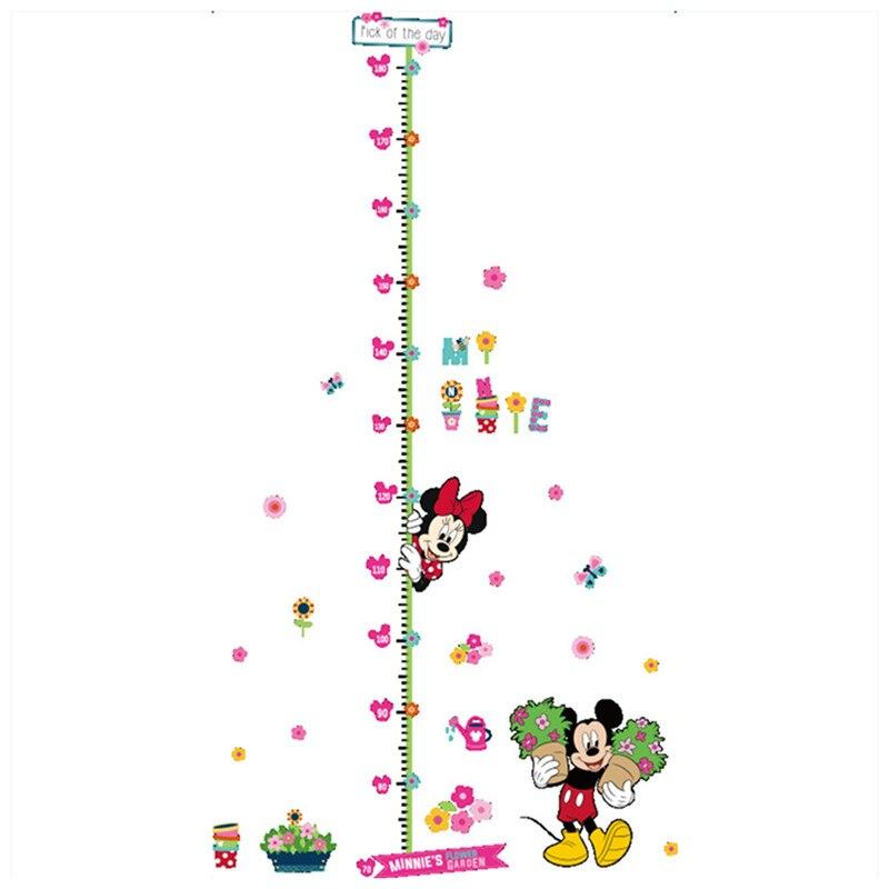 180cm Baby Height Measuring Stickers Cartoon Image Mickey Minnie