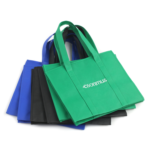6pcs Multifunction Reusable Storage Bags Non Woven Large Grocery Tote Bag Foldable Ping