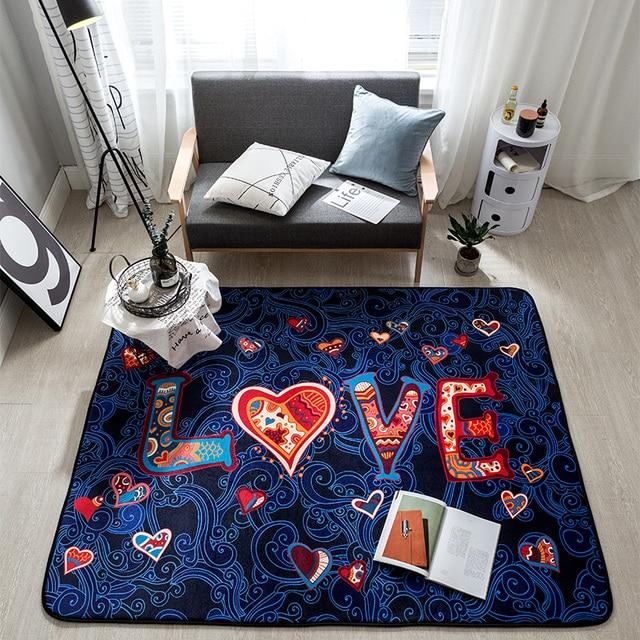 blauw fleece liefde matten voor antislip douche mat badkamer tapijt badmat polyester flanel tapijt en tapijten