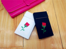 Ladies Romantic Roses Soft Silica Gel Cigarette Case Cover Smoking Decoration Slim Long Cigarette Box for Women Cigarettes Pack(China)