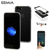 EEMIA TPU Cover For iPhone 8 Case 360 Front Back Full Case For iPhone 8 Plus Touch Screen Protector Phone Cases For iPhone 8