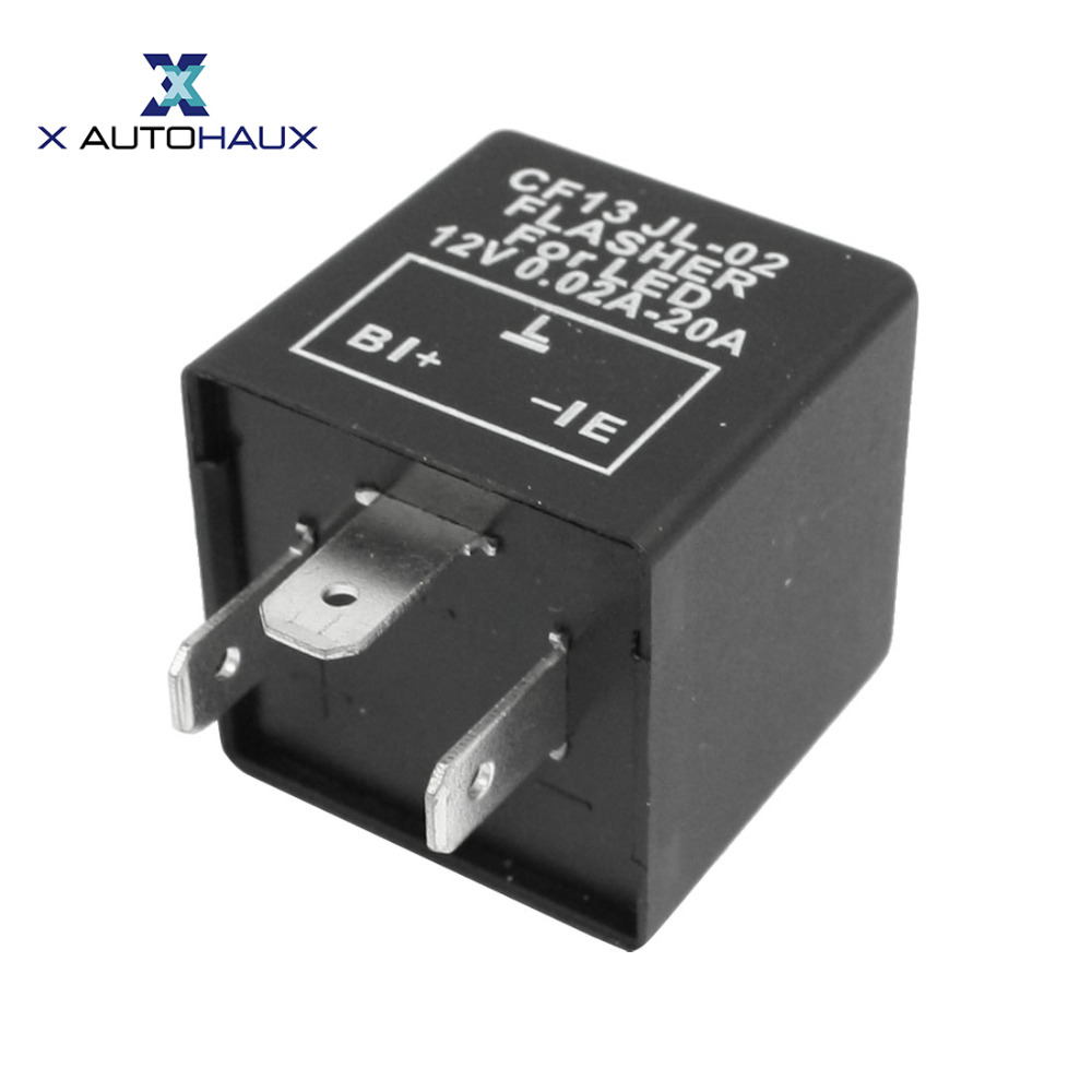 X AUTOHAUX Car Vehicle 3 Terminals LED Turn Blinker Light Flasher Relay 12V DC 0.02-20A