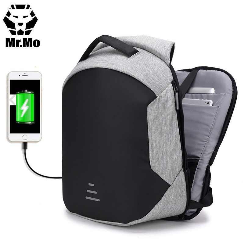 2e70fff6d2fb 2018 Popular anti-theft anti thief theft men s waterproof smart USB  charging laptop mochilas bagpack