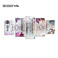 ZOOYA 5D DIY Diamond Embroidery Home Sweet Home Diamond Painting Cross Stitch Full Drill Rhinestone Mosaic